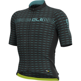 Alé Cycling Graphics PRR Green Road Jersey Korte Mouwen Heren, black/turquoise